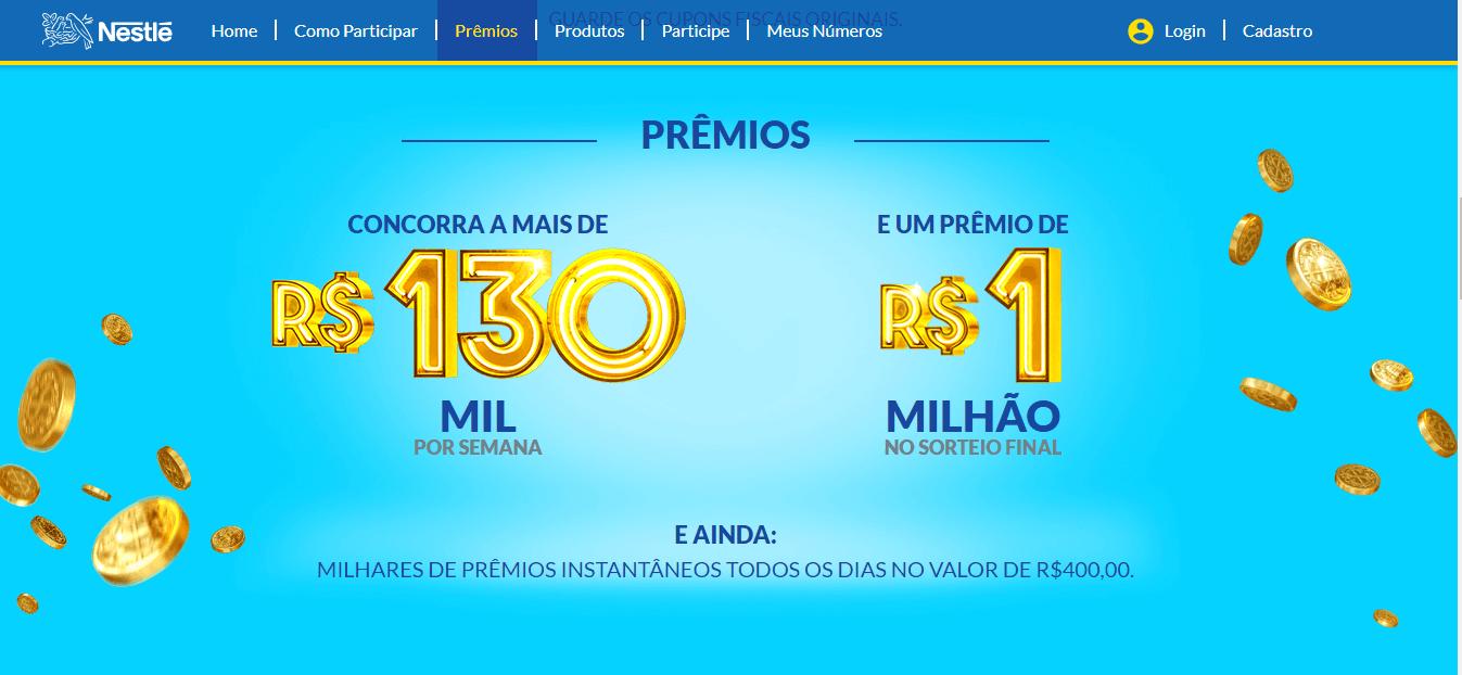 Promoção Nestlé Tá Podendo 2020 Prêmios