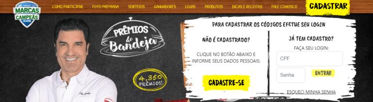 Cadastro na promoção Marcas Campeãs 2020