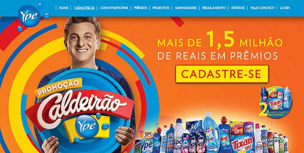 Cadastrar cupom na promoção Caldeirão Ypê 2020