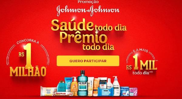 Cadastrar na promoção Johnson & Johnson 2020