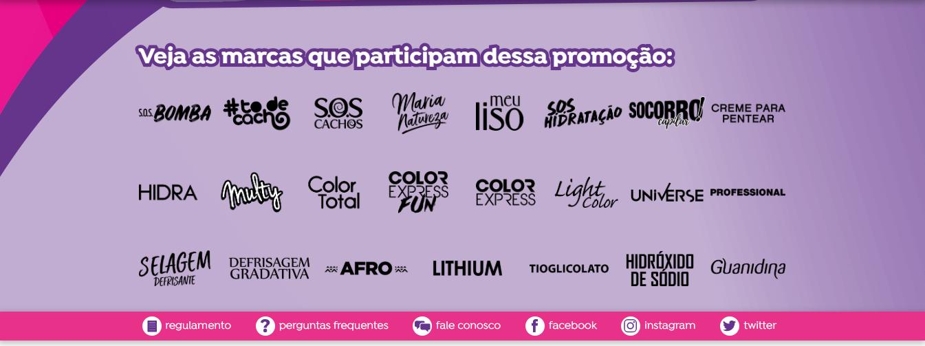 Marcas participantes Promoção Salon Line